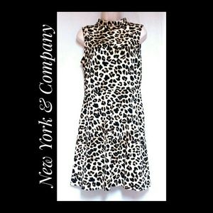 New York & Company Leopard Print Sleeveless Dress